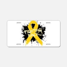 Fighting Childhood Cancer Aluminum License Plate