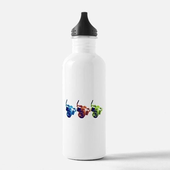 Pop Art Retro Camera Water Bottle