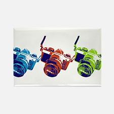 Pop Art Retro Camera Rectangle Magnet (100 pack)