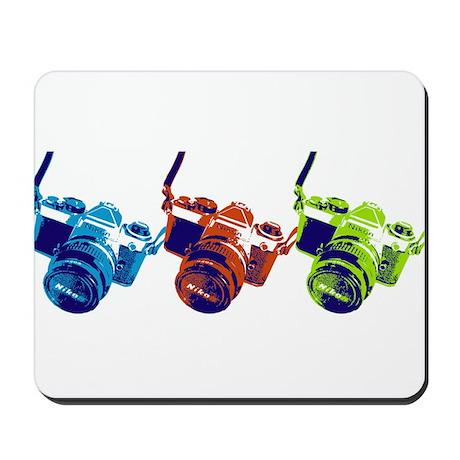Pop Art Retro Camera Mousepad
