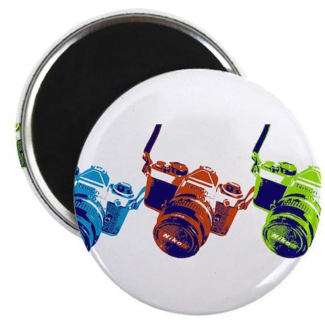 Pop Art Retro Camera Magnet