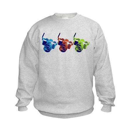 Pop Art Retro Camera Kids Sweatshirt