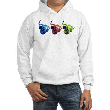 Pop Art Retro Camera Hooded Sweatshirt