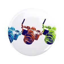 """Pop Art Retro Camera 3.5"""" Button (100 pack)"""