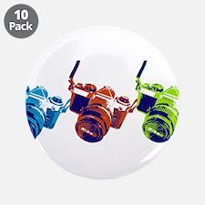 """Pop Art Retro Camera 3.5"""" Button (10 pack)"""