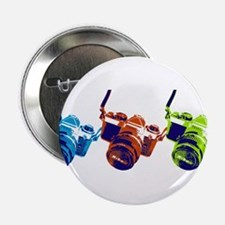 "Pop Art Retro Camera 2.25"" Button (100 pack)"