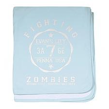 Fighting Zombies - baby blanket