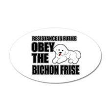 Bichon Frise 22x14 Oval Wall Peel