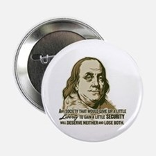 "Franklin Liberty Vs Security 2.25"" Button"