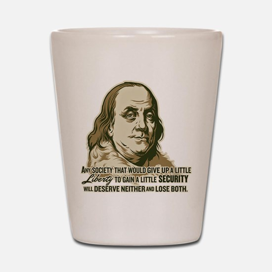 Franklin Liberty Vs Security Shot Glass
