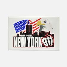 New York 911 Rectangle Magnet