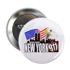 "New York 911 2.25"" Button"