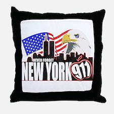 New York 911 Throw Pillow