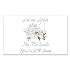 Ask me-Soapmaking Rectangle Decal