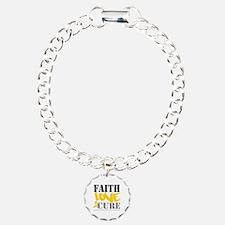 Faith Childhood Cancer Bracelet