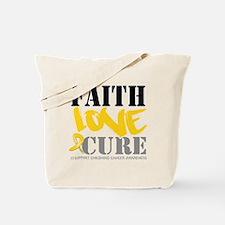 Faith Childhood Cancer Tote Bag