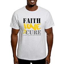 Faith Childhood Cancer T-Shirt