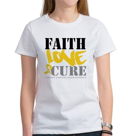 Faith Childhood Cancer Women's T-Shirt