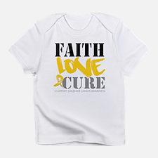 Faith Childhood Cancer Infant T-Shirt
