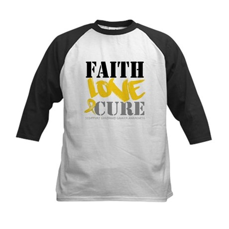 Faith Childhood Cancer Kids Baseball Jersey