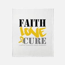 Faith Childhood Cancer Throw Blanket
