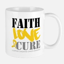 Faith Childhood Cancer Mug