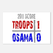 Troops 1 Osama 0 Postcards (Package of 8)