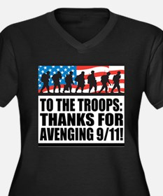 Troops Thanks for Avenging 9/11 Women's Plus Size