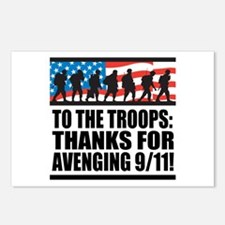 Troops Thanks for Avenging 9/11 Postcards (Package