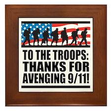 Troops Thanks for Avenging 9/11 Framed Tile