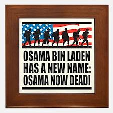 Osama Now Dead Framed Tile