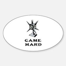 Game Hard Oval Decal