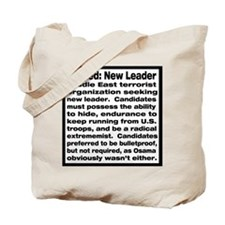 Wanted: New Leader Tote Bag