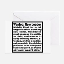 Wanted: New Leader Greeting Card