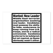 Wanted: New Leader Postcards (Package of 8)