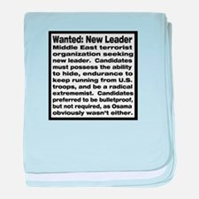 Wanted: New Leader baby blanket