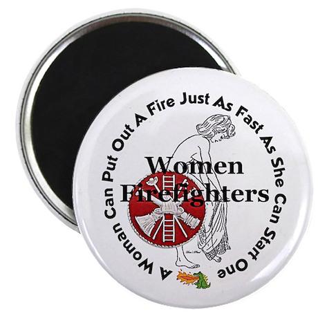Women Firefighters Magnet