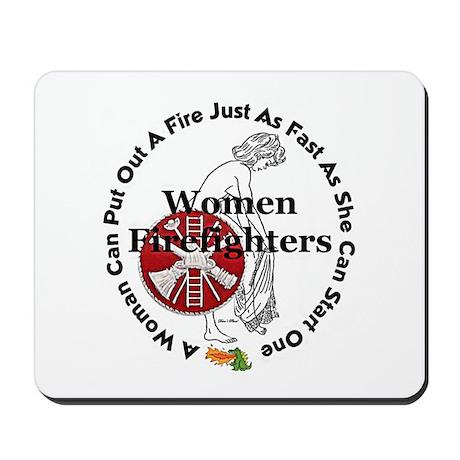 Women Firefighters Mousepad