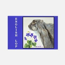 English Lop Rabbit Rectangle Magnet
