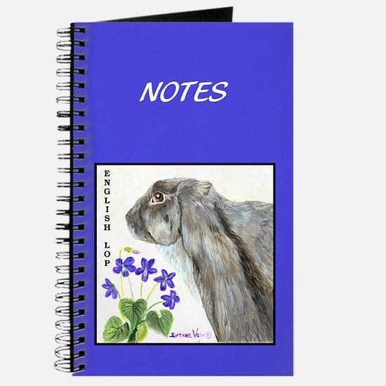 English Lop Rabbit Journal