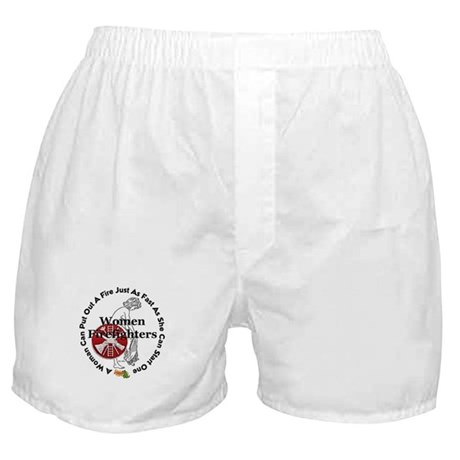 Women Firefighters Boxer Shorts