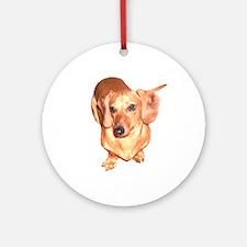 Tiger Boy Dachshund Dog Ornament (Round)