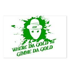 Where Da Gold At?  Gimme Da G Postcards (Package o