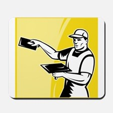 plasterer worker tradesman Mousepad