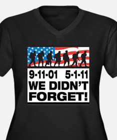 We Didn't Forget 9-11-01 Women's Plus Size V-Neck
