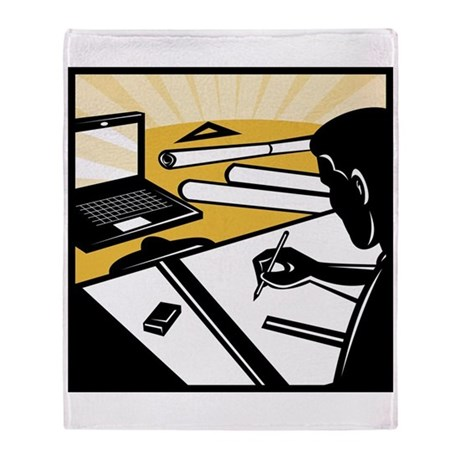 architectural draftsman Throw Blanket