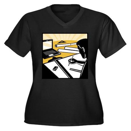 architectural draftsman Women's Plus Size V-Neck D