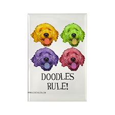 Doodles Rule Rectangle Magnet (100 pack)