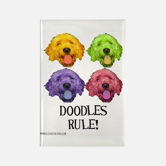 Doodles Rule Rectangle Magnet