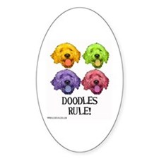 Doodles Rule Oval Decal